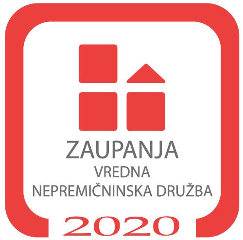 Certifikat ZAUPANJA VREDNA NEPREMIČNINSKA DRUŽBA za leto 2020